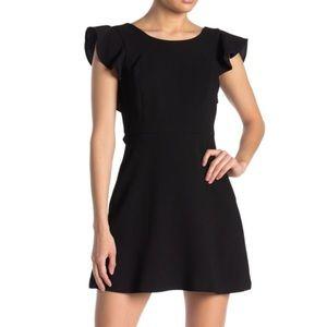 BCBGENERATION Back Ruffle Dress Black